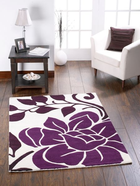 Origin Rugs Sasha Wool Rug Plum 60x120