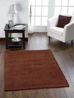 Gardenia Wool Rug Chocolate 160x230