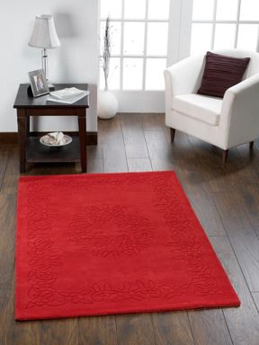 Origin Rugs Gardenia Wool Rug Red Range