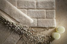 Bamboo Collection Cream Brick 50x80