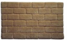 Hug Rug Bamboo Collection Mocha Brick 50x80