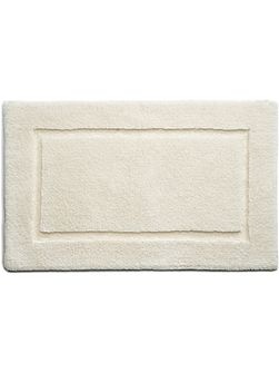 Bamboo Collection Cream Border Bath Mat 50x80