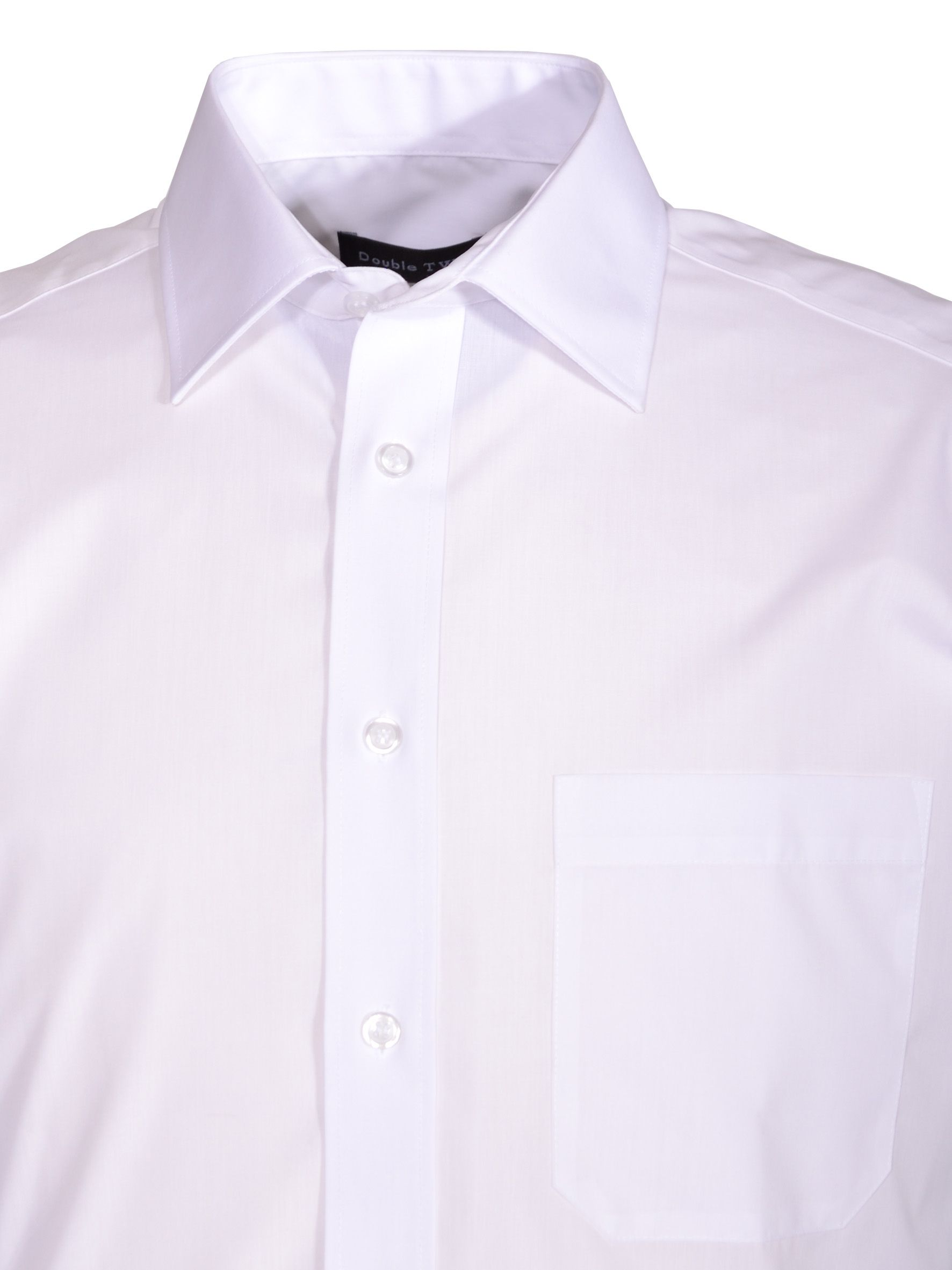 Non iron poplin short-sleeve shirt