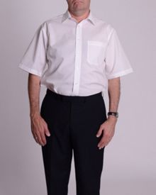 Double TWO Non iron poplin short-sleeve shirt
