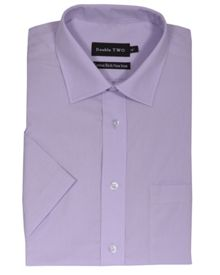 Double TWO King size non iron poplin short-sleeve shirt