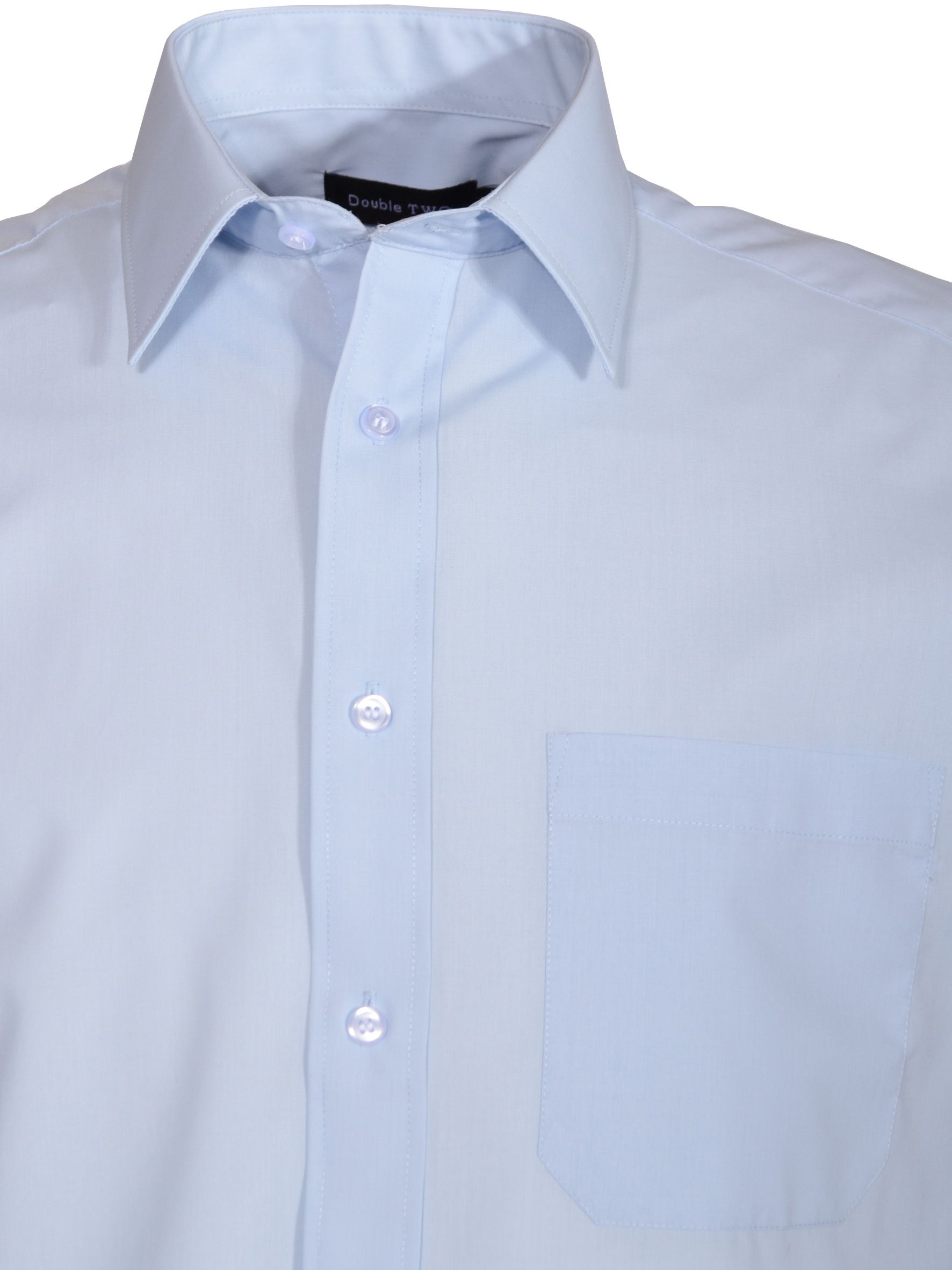 Classic plain short-sleeve shirt