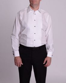 Double TWO King Size stitch pleat dress shirt