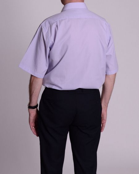 Double TWO Classic plain short-sleeve shirt
