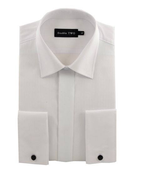Double TWO Ribbed pique dress shirt