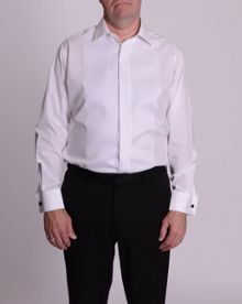 Ribbed pique dress shirt