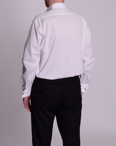 Double TWO King Size wing collar stitch pleat shirt