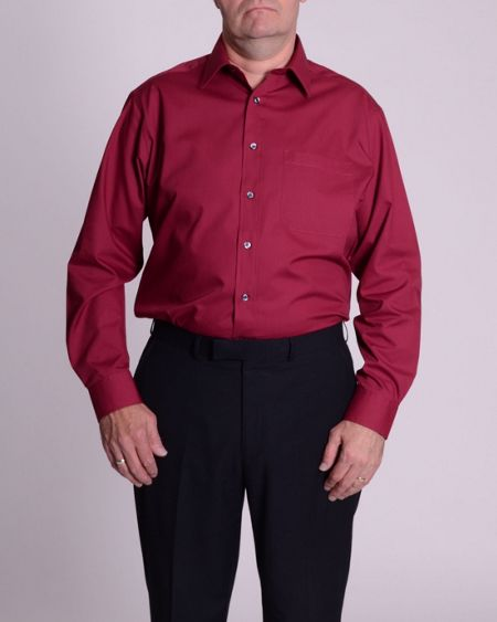 Double TWO Classic plain long-sleeve shirt