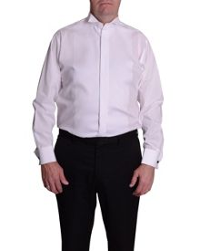 Plain Classic Fit Wing Collar Dress Shirt