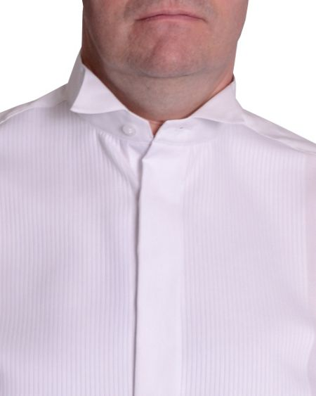 Double TWO Plain Classic Fit Wing Collar Dress Shirt