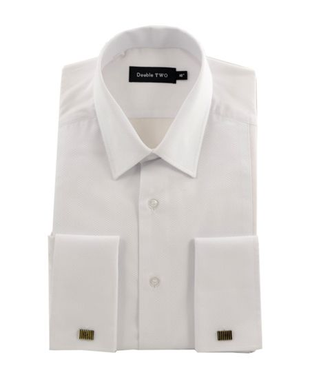 Double TWO King Size Marcella rib front dress shirt