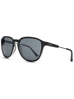 26BEN007 Black Clear Square Sunglasses