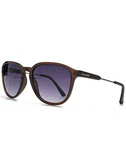 26BEN009 Crystal Brown Square Sunglasses