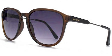 Ben Sherman 26BEN009 Crystal Brown Square Sunglasses