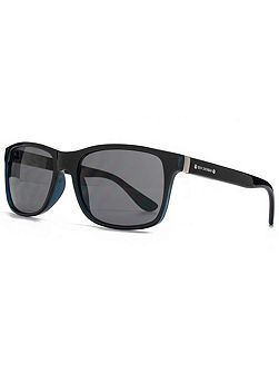 26BEN024 Black Xtal Rectangle Sunglasses