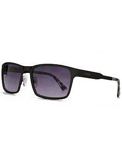 26BEN026 Matt Black Rectangle Sunglasses