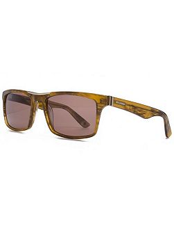 26BENP001 Brown Rectangle Sunglasses