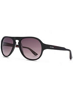 26BENP003 Black Navy Aviator Sunglasses
