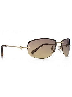 26SUU119 gold semi-rimless