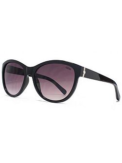 26SUU134 Shiny Black Cateye Sunglasses