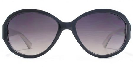 Suuna 26SUU129 Black White Oval Sunglasses