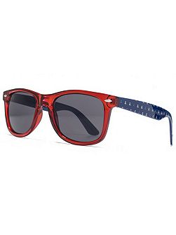 26AFS002 Crystal Red Square Sunglasses