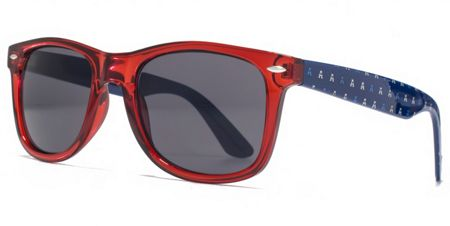 American Freshman 26AFS002 Crystal Red Square Sunglasses