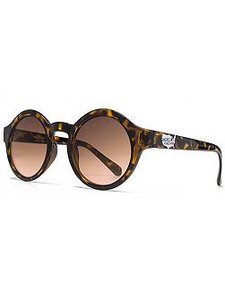 26AFS005 Brown Demi Round Sunglasses