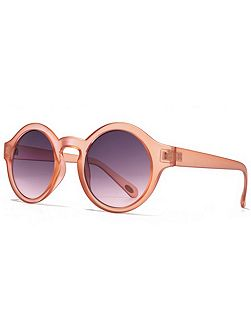 26AFS006 Matt Crystal Round Sunglasses