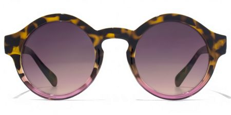 American Freshman 26AFS007 Tort Pink Round Sunglasses