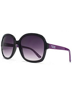 26AFS008 Black Square Sunglasses