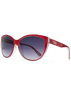 26AFS017 Red Marble Cateye Sunglasses