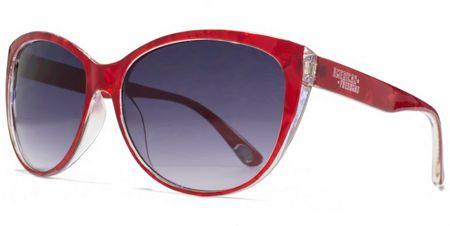 American Freshman 26AFS017 Red Marble Cateye Sunglasses