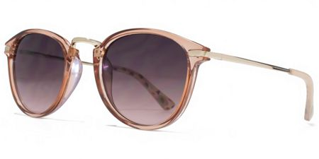 American Freshman 26AFS020 Crystal Nude Round Sunglasses
