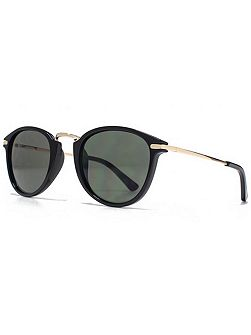 26AFS021 Black Round Sunglasses