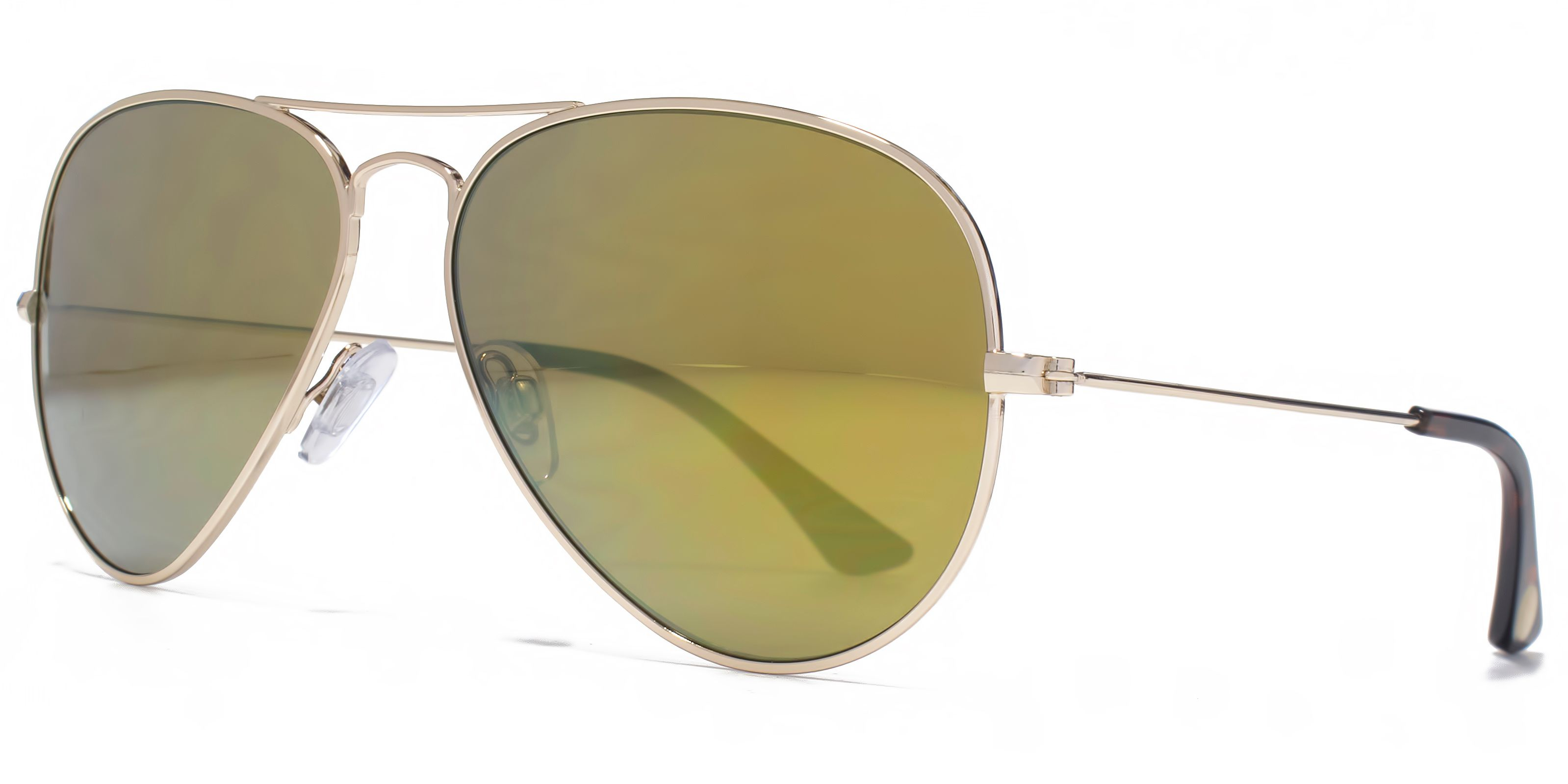 American Freshman American Freshman 26AFS023 Light Gold Aviator Sunglasses
