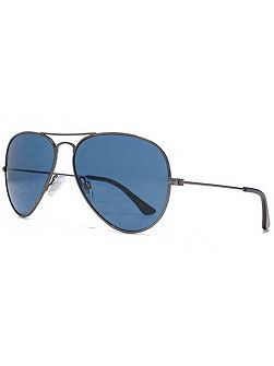 26AFS024 Matt Dark Aviator Sunglasses