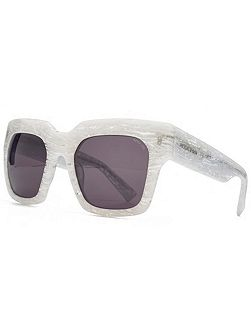 26HK009- WHT Square Sunglasses
