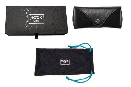 Hook LDN 26HK010- BLK Cateye Sunglasses