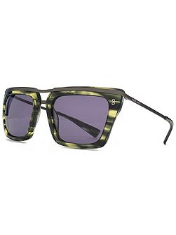 26HK011- GRN Square Sunglasses