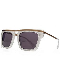 26HK011- WHT Square Sunglasses