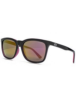 26ANI032 Black Fuchsia Square Sunglasses