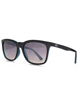 26ANI033 Black Blue Square Sunglasses