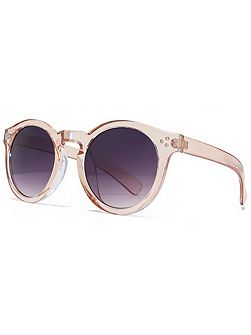 26MUK147852 Peach Round Sunglasses