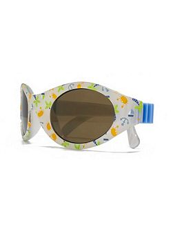 26MNK223 White Wrap Sunglasses