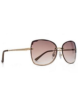 French Connection FC Woman FCU639 Gold glam rimless